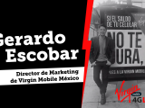 Gerardo Escobar, Director de Marketing de Virgin Mobile México en la Universidad de la Comunicación