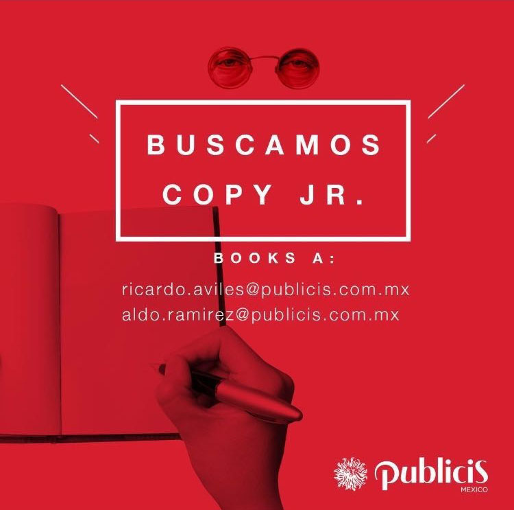 Publicis Mexico solicita Copy Jr.